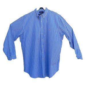 Polo Ralph Lauren Dress Shirt Blue w/ White Stripe